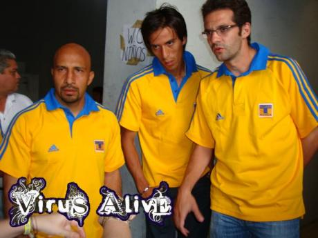 """""""Conejo"""" Perez, Lucas Lobos y Antonio Sancho"""